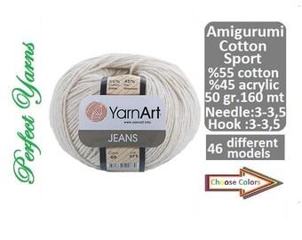 Yarnart jeans, Amigurumi Yarn, Yarnart yarn, Knitting Yarn, crochet yarn, Soft yarn, Baby Yarn, amigurumi, Cotton yarn, cotton, yarn