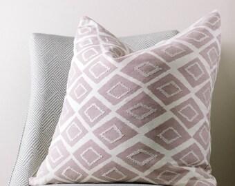 Mauve Pink Geometric Pillow The Maude Pillow Shiny Throw Pillow Mauve Pink Decorative Pillow Covers Cotton Finish Cushion 18x18 20x20