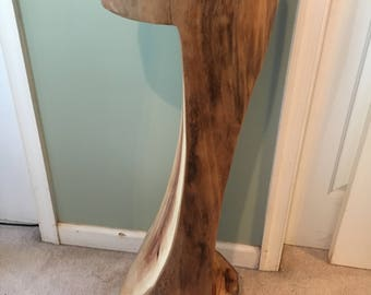 "Sycamore Table Base Log Wood Stump 34.5"" Tall and 11"" Diameter"