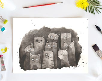 Special Sale! Cat Giclee Print