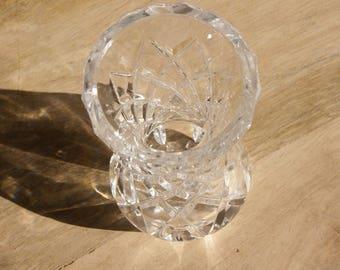 Vintage Cut Glass Bud Vase