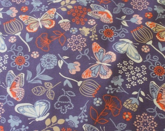 Purple Butterfly Cotton fabric , Craft Cotton, Quilting Cotton, Sewing project