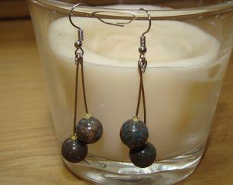 Jade colored Chocolate Blue earrings
