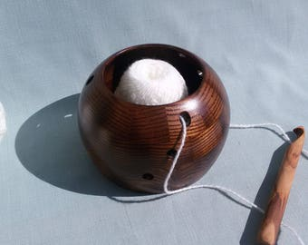 The yarn bowl/wooden bowl/bowl for knitting/bowl tangle/wood/craft bowl/basket/