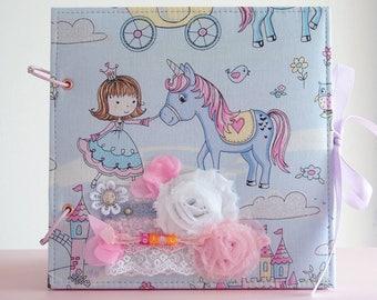 scrapbook photo album scrapbooking girl handmade baby shower princess unicorn