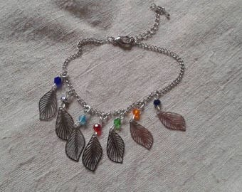 "bracelet ""small silver leaves"""