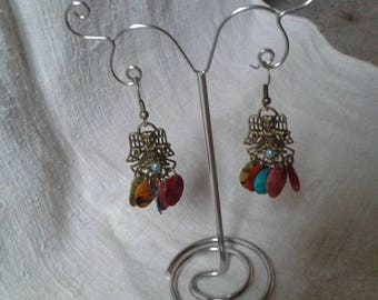 Fairy and multicolored drops earrings