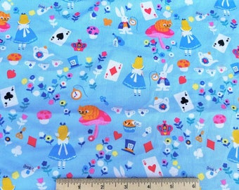 Alice in Wonderland Cotton Woven Quilting Fabric