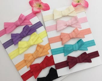 Baby Girl Headband/ bow elastic headband You choose color of 4