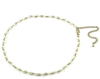 Beaded Rosary Choker minimal rosary chain choker Rosary choker rosary beaded choker bead necklace copper wire choker minimal bead choker