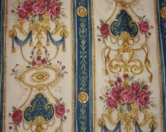 beautiful vintage fabric, gorgeous flower patterns