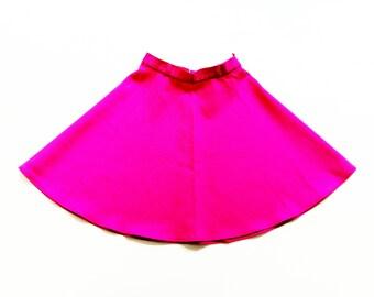 Pink 70s GirlS Vintage skirt siZe 5-6Y ReTro RocK 70er MädChen HipSter 116