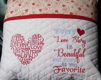 Love Story Reading Pocket Pillow, Reading Pillow, Book Pillow, Pocket Pillow, Gift for Readers, Birthday Gift , Reading Pillow gift