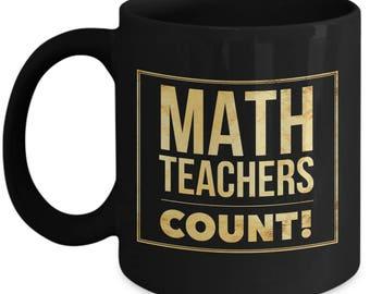 Math Teacher Mug | Math Teacher Gifts - Best Math Teacher - Funny Math Coffee Mugs - Women Male - Birthday Christmas Graduation