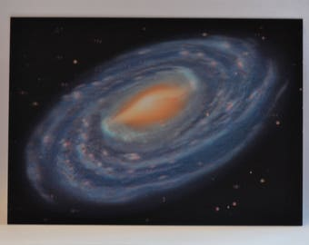 3D - space postcard - The Milky Way - 15 x 10 cm