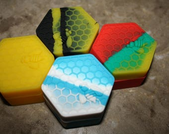 26ML HoneyBee Hex Nonstick Silicone Dab Container