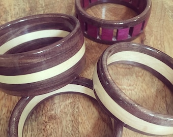 Wooden Bracelet - handmade Wooden Bangle