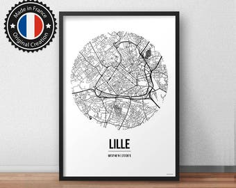 Poster Lille France Street Map - City Map