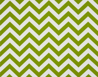 Green and white Chevron upholstery fabric American design