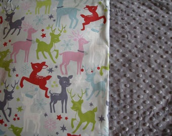 REVERSIBLE cotton and MINKY baby blanket kit