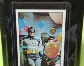 Adam West Batman w/ Robin Trading card in removable frame