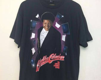 Vintage CHUBBY CHECKER American Singer The Never Ending Tour/Twist Dance/Band Shirt