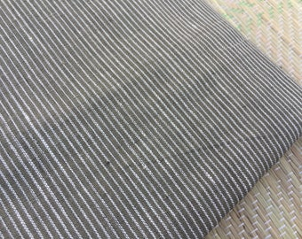 1 yard of Handspun natural dyed pin striped khadi Fabric / khadi / yardage / fabric / yardage / khadi yardage / handspun