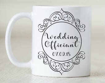 Wedding Officiant Gift Mug Custom For Ceremony Planner