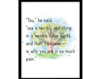 FP1005 Unusual Quote Alice in Wonderland Gift Art Print Poster
