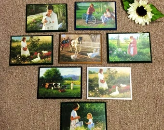 Vintage Country scene Wall Plaques