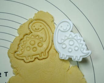 Cute Dinosaur 01  Cookie Cutter and Stamper
