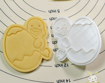 Duck Holding Easter Egg Cookie Cutter and Stamp