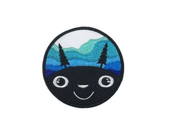 blue totoro Iron on patch Patch Embroidered  Applique p151