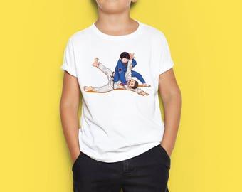 Judo baby T-shirt, Judo toddler T-shirt, Judo kid T-shirt, Judo baby, Judo toddler, Judo kid, Personalized kid T-shirt, Kid present, MMA