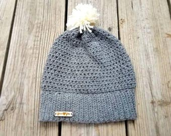 Gray Beanie; winter hat; winter beanie