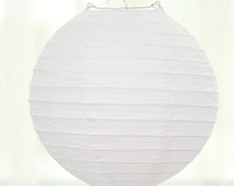 6pcs White Paper Lanterns - small medium large|Baby Bridal shower|Nursery room decoration|Hanging Chinese lantern|Birthday party|Own drawing