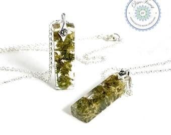 Cannabis Sativa Bud Necklace. Handmade in USA. Marijuana jewelry. Sativa art. Resin pendant