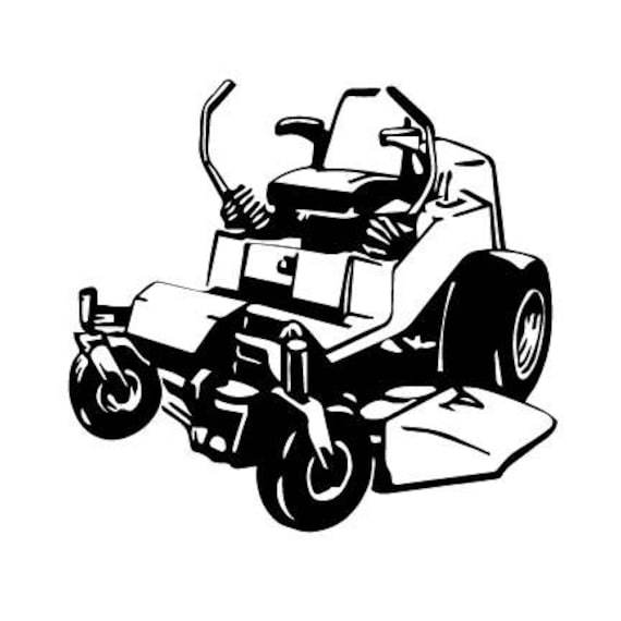 commercial lawn mower silhouette. zero turn mower lawn mower outline svg digital download cuttable files cricut silhouette commercial