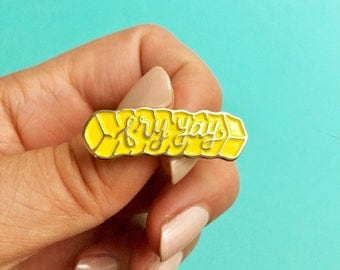 Fry yay crinkle cut golden french fry soft enamel pin-lapel pin-hat pin