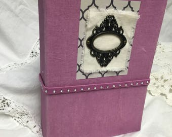 Cloth covered embossed journal
