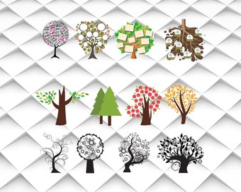 Family Tree svg | Tree svg,jpg,eps,psd,ai for Design/Print/ Silhouette Cameo/Cricut and Many More