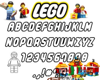 Lego font svg|Lego alphabet svg|Lego letters svg,dxf for Print/Silhouette Cameo/Cricut and Many More