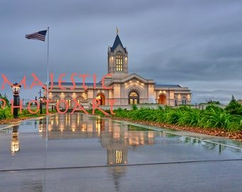 Fort Collins Temple Stormy night Photograph-Instant Digital Download