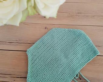 Two peice crochet stretch bikini ( size xs/small)