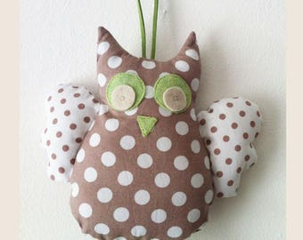 cuddly OWL hanging baby's room decor