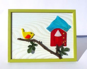 Picture frame Green Apple fusing nature scene