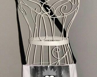 Evil queen cross body tote bag