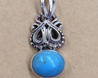 Vintage Sterling 925 & Turquoise Pendant