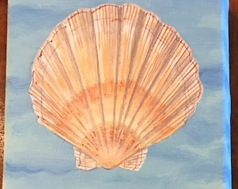 seashells:  scallop.  acrylic on canvas