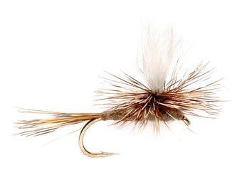 Fishing Flies - 4 Adams Parachute - Sizes 14, 16, 18, 20